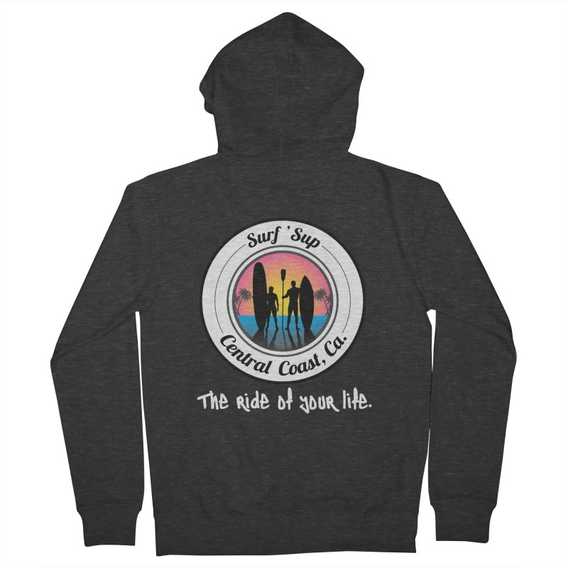 Surf 'SUP Central Coast - Zip Up Hoodies in Men's French Terry Zip-Up Hoody Smoke by ishCreatives's Artist Shop