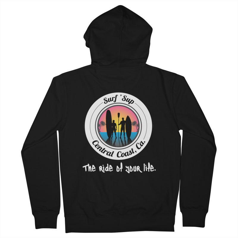 Surf 'SUP Central Coast - Zip Up Hoodies in Men's French Terry Zip-Up Hoody Black by ishCreatives's Artist Shop