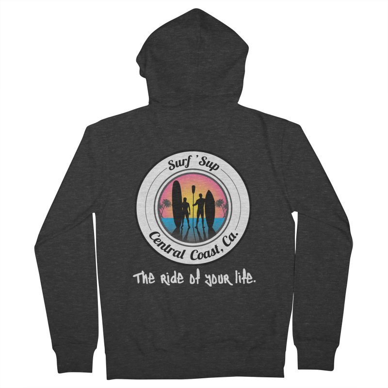 Surf 'SUP Central Coast - Zip Up Hoodies in Women's French Terry Zip-Up Hoody Smoke by ishCreatives's Artist Shop