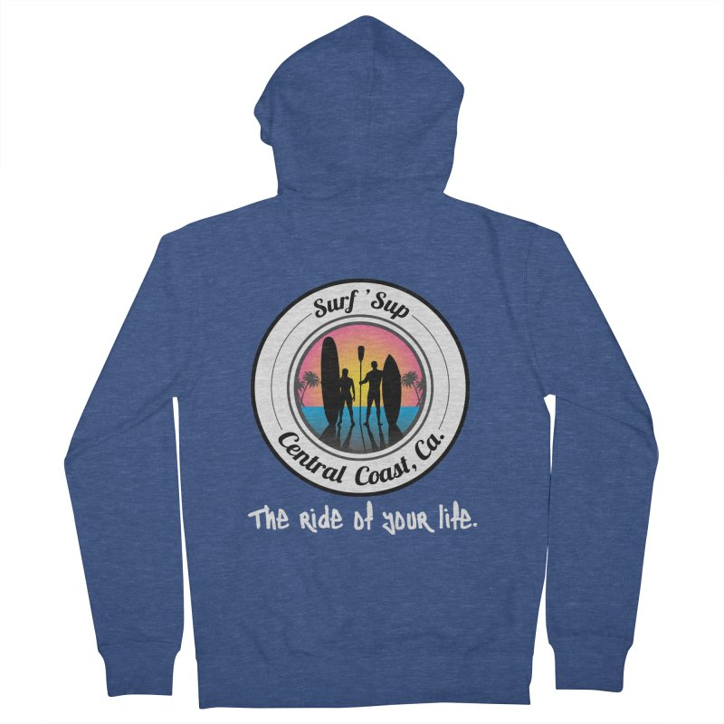 Surf 'SUP Central Coast - Zip Up Hoodies Men's Zip-Up Hoody by ishCreatives's Artist Shop