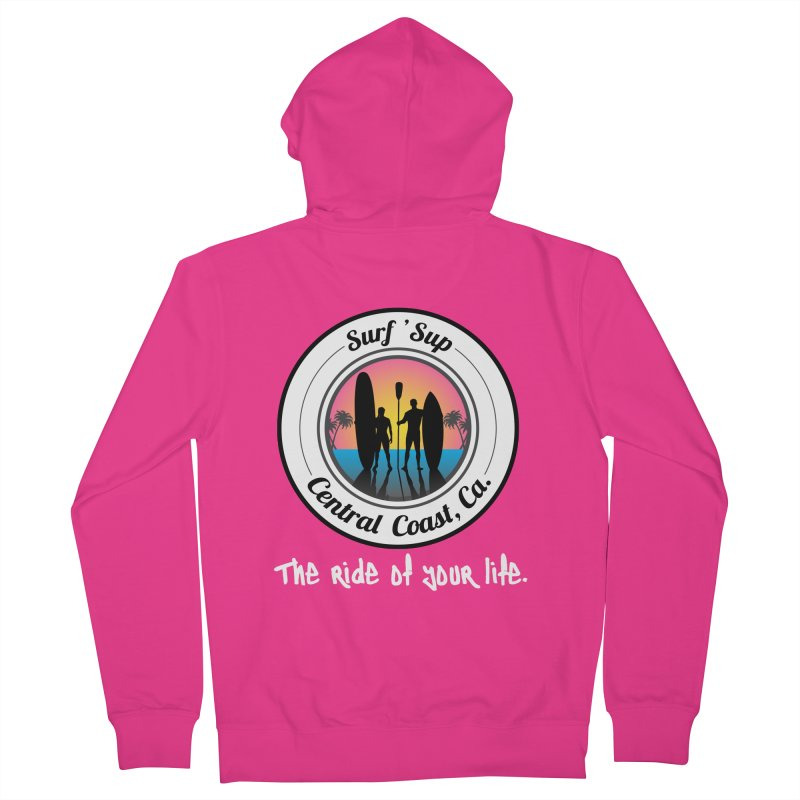 Surf 'SUP Central Coast - Zip Up Hoodies Men's French Terry Zip-Up Hoody by ishCreatives's Artist Shop
