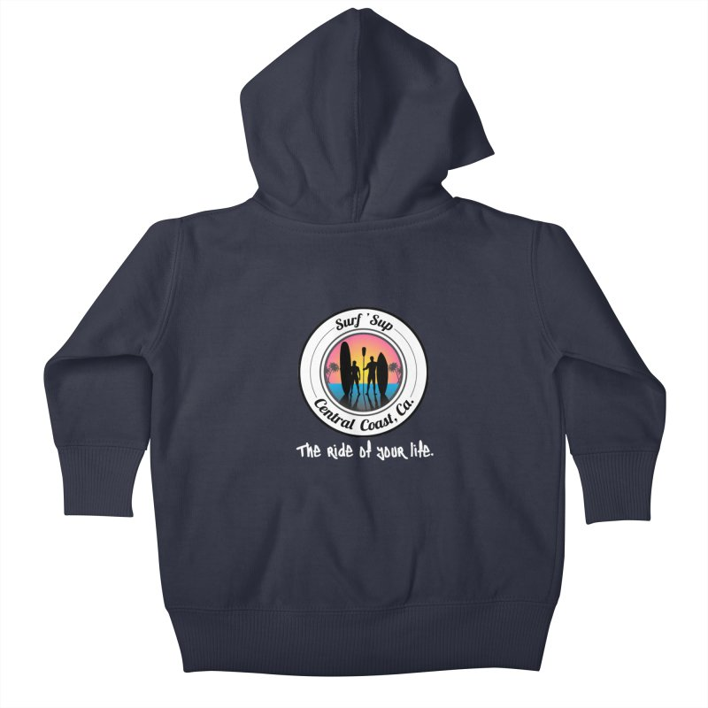 Surf 'SUP Central Coast - Zip Up Hoodies Kids Baby Zip-Up Hoody by ishCreatives's Artist Shop