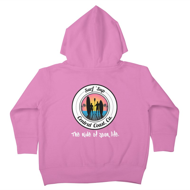 Surf 'SUP Central Coast - Zip Up Hoodies Kids Toddler Zip-Up Hoody by ishCreatives's Artist Shop