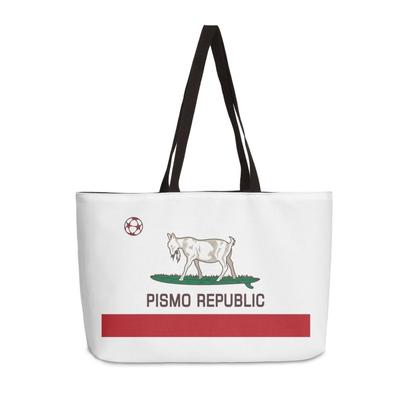Pismo Republic Accessories Weekender Bag Bag by ishCreatives's Artist Shop