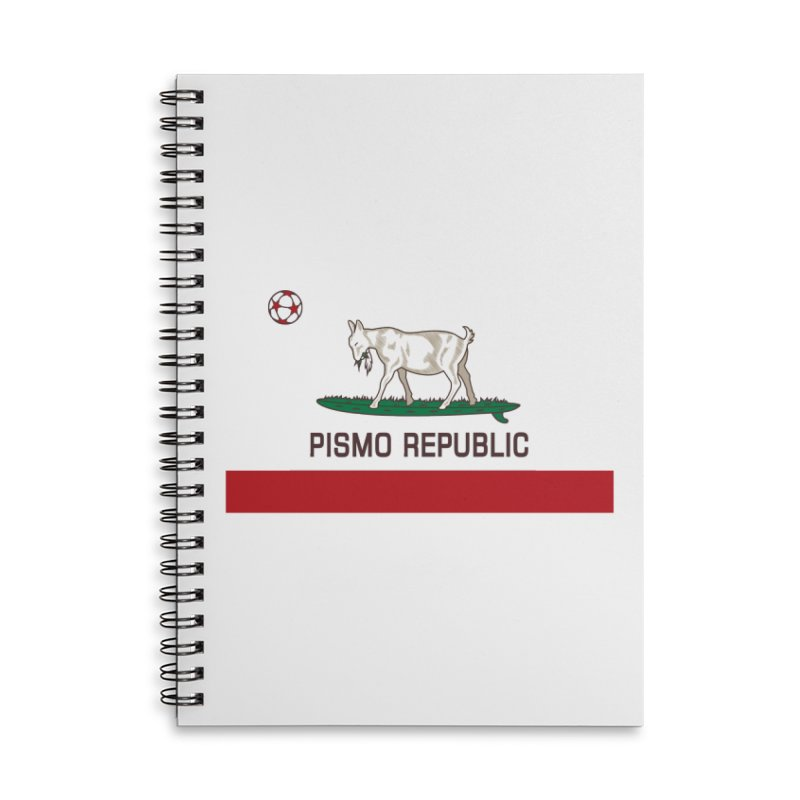 Pismo Republic Accessories Lined Spiral Notebook by ishCreatives's Artist Shop