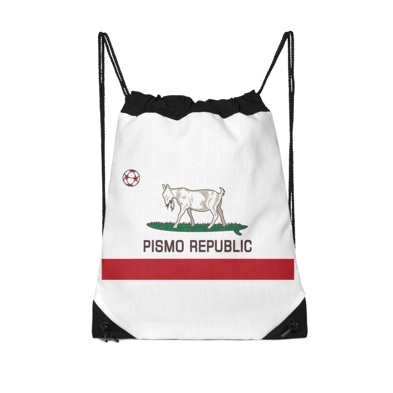 Pismo Republic Accessories Drawstring Bag Bag by ishCreatives's Artist Shop