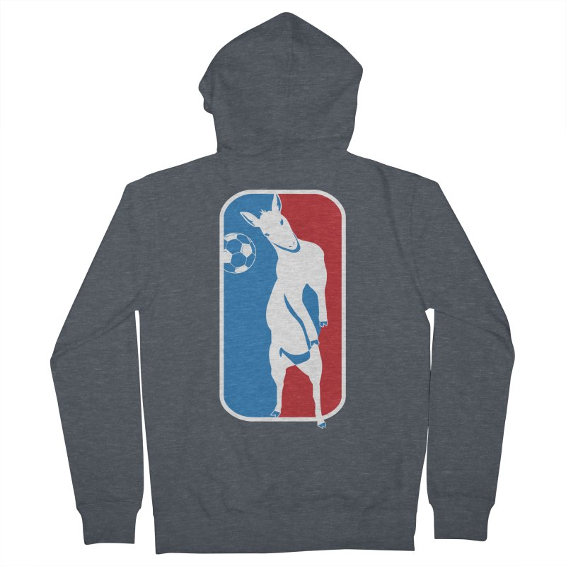 Hoofball Women's French Terry Zip-Up Hoody by ishCreatives's Artist Shop