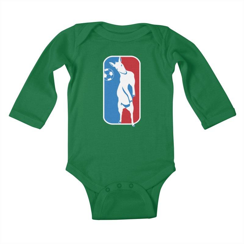 Hoofball Kids Baby Longsleeve Bodysuit by ishCreatives's Artist Shop