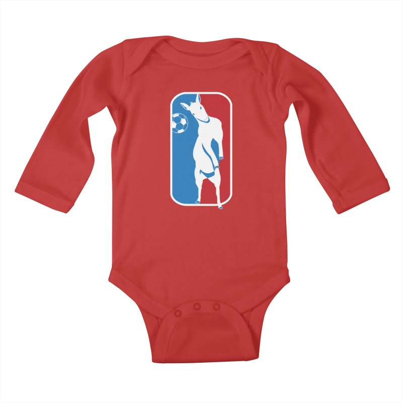 Hoofball Kids Baby Longsleeve Bodysuit by ishCreatives's Artist Shop