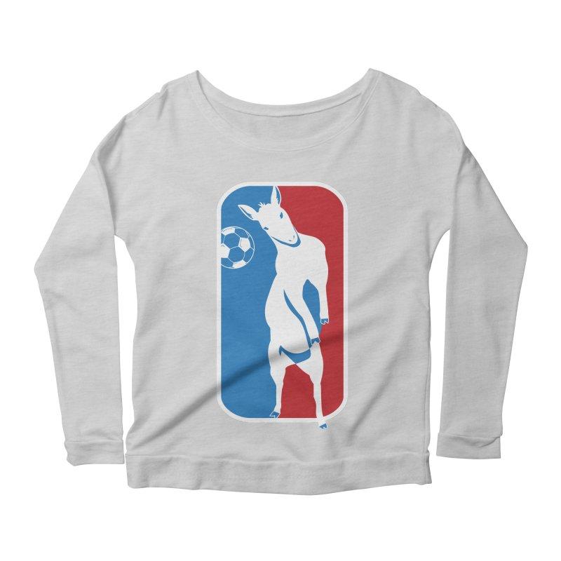 Hoofball Women's Scoop Neck Longsleeve T-Shirt by ishCreatives's Artist Shop