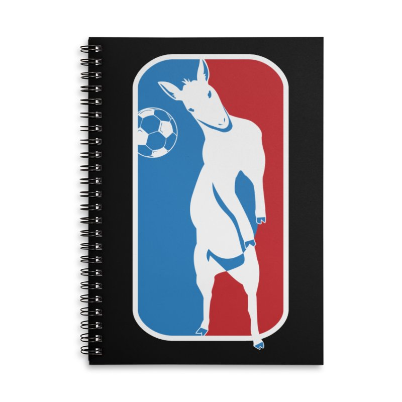 Hoofball Accessories Lined Spiral Notebook by ishCreatives's Artist Shop