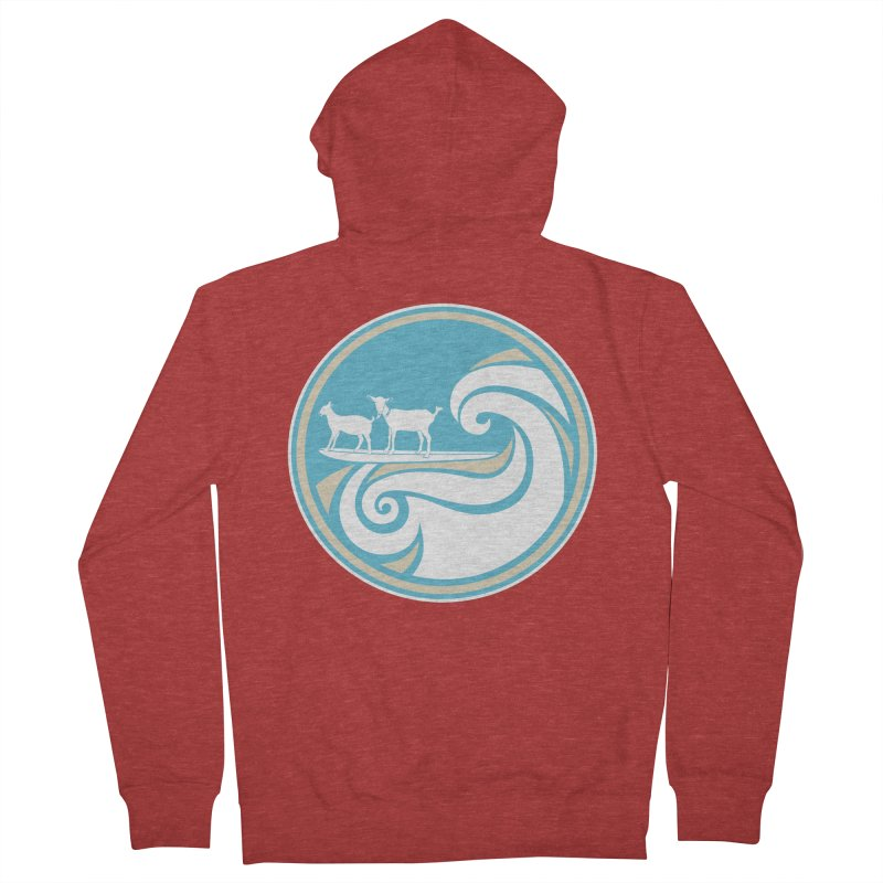 Shredding the Gnar Women's French Terry Zip-Up Hoody by ishCreatives's Artist Shop