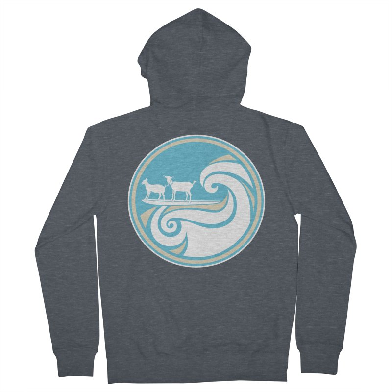 Shredding the Gnar Men's French Terry Zip-Up Hoody by ishCreatives's Artist Shop