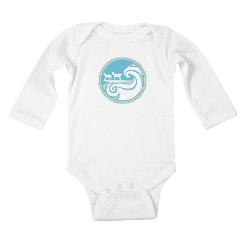 Shredding the Gnar Kids Baby Longsleeve Bodysuit by ishCreatives's Artist Shop
