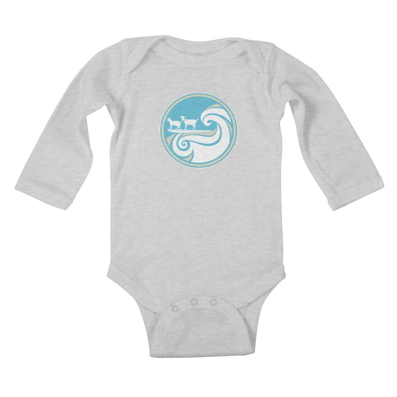 Shredding the Gnar Kids Baby Longsleeve Bodysuit by ishCreatives's Artist Shop