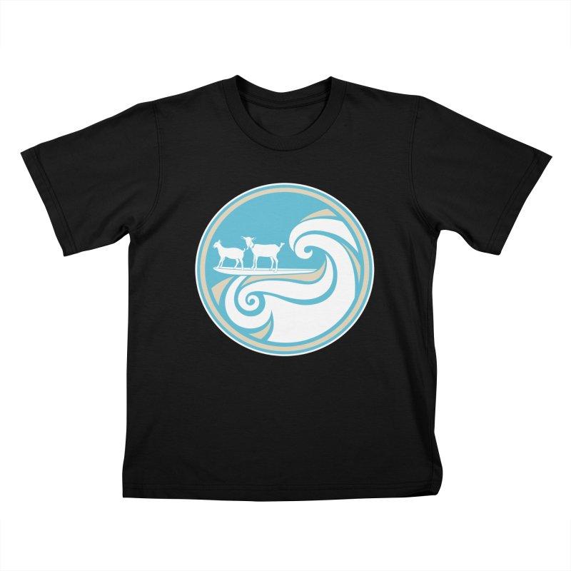 Shredding the Gnar in Kids T-Shirt Black by ishCreatives's Artist Shop