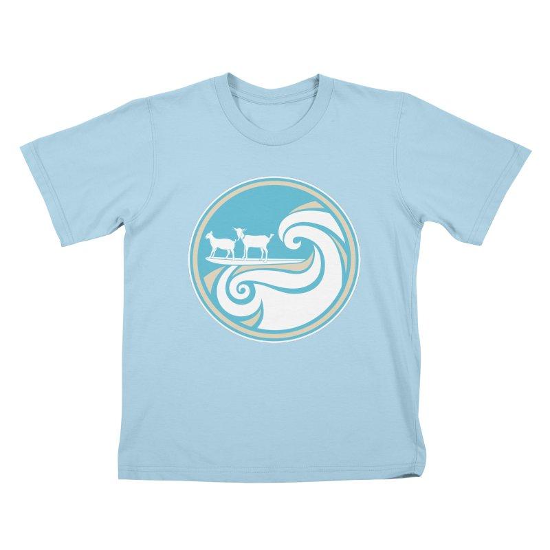 Shredding the Gnar in Kids T-Shirt Powder Blue by ishCreatives's Artist Shop