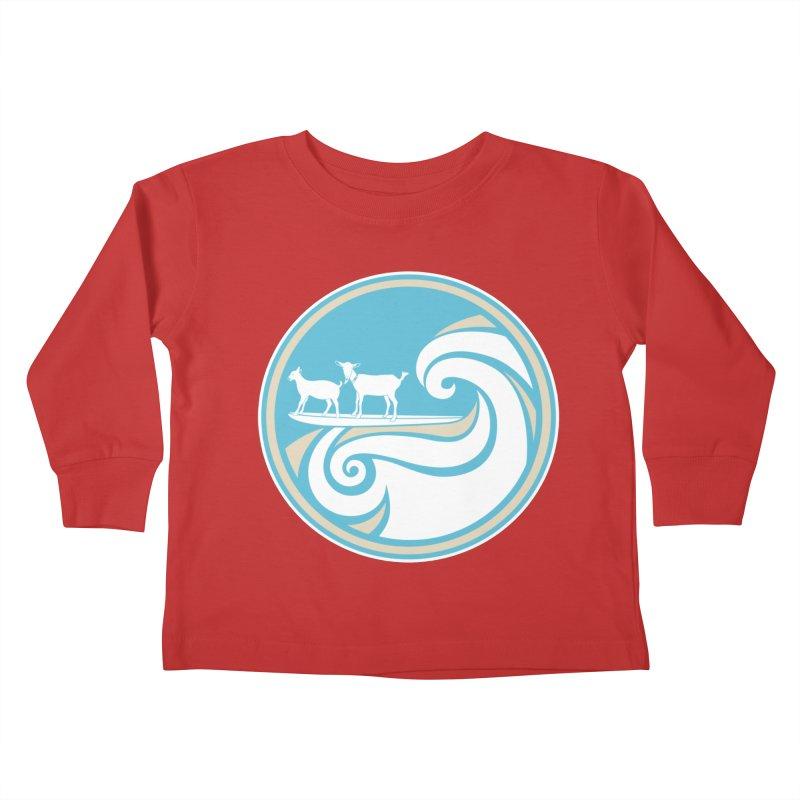Shredding the Gnar Kids Toddler Longsleeve T-Shirt by ishCreatives's Artist Shop