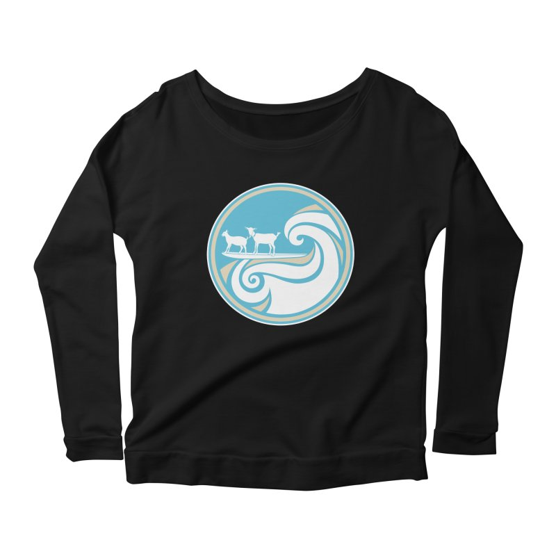Shredding the Gnar Women's Scoop Neck Longsleeve T-Shirt by ishCreatives's Artist Shop