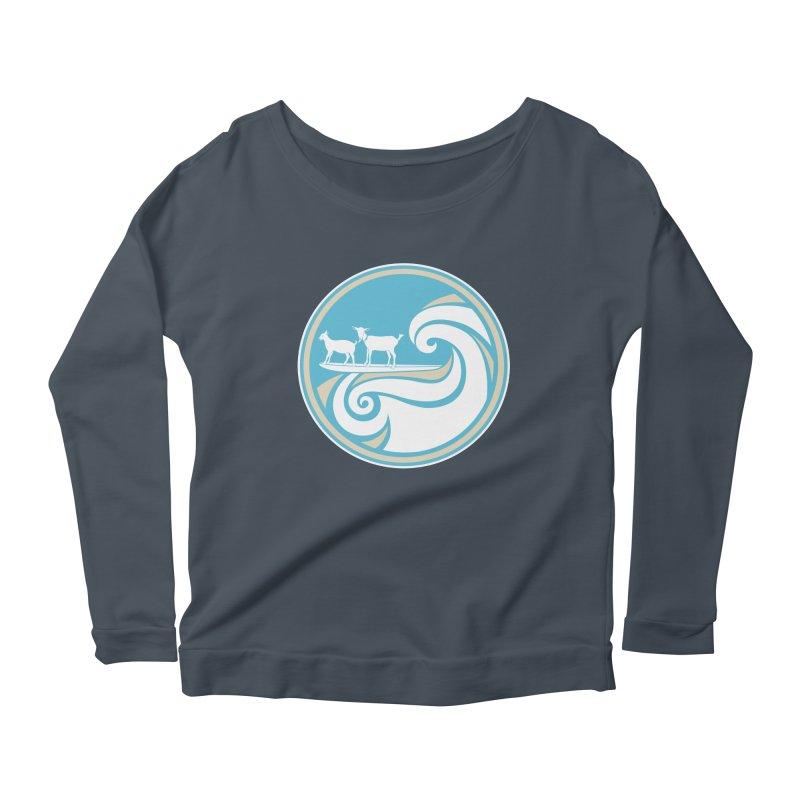 Shredding the Gnar Women's Scoop Neck Longsleeve T-Shirt by ishCreatives's Artist Shop