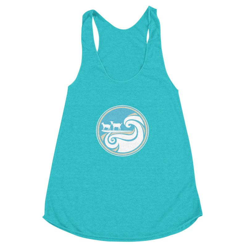 Shredding the Gnar Women's Racerback Triblend Tank by ishCreatives's Artist Shop