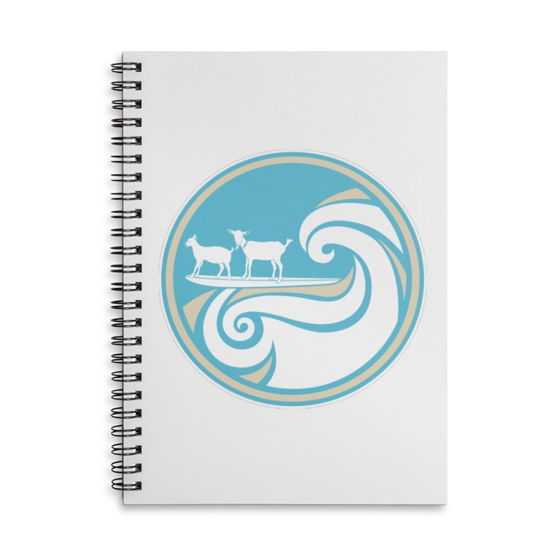 Shredding the Gnar Accessories Lined Spiral Notebook by ishCreatives's Artist Shop