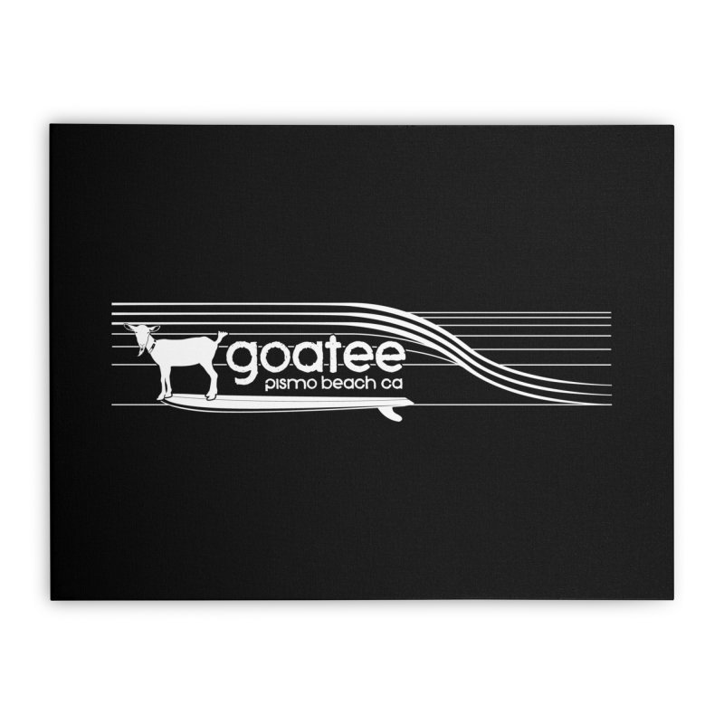 Goatee, The Original Surfing Goat Home Stretched Canvas by ishCreatives's Artist Shop