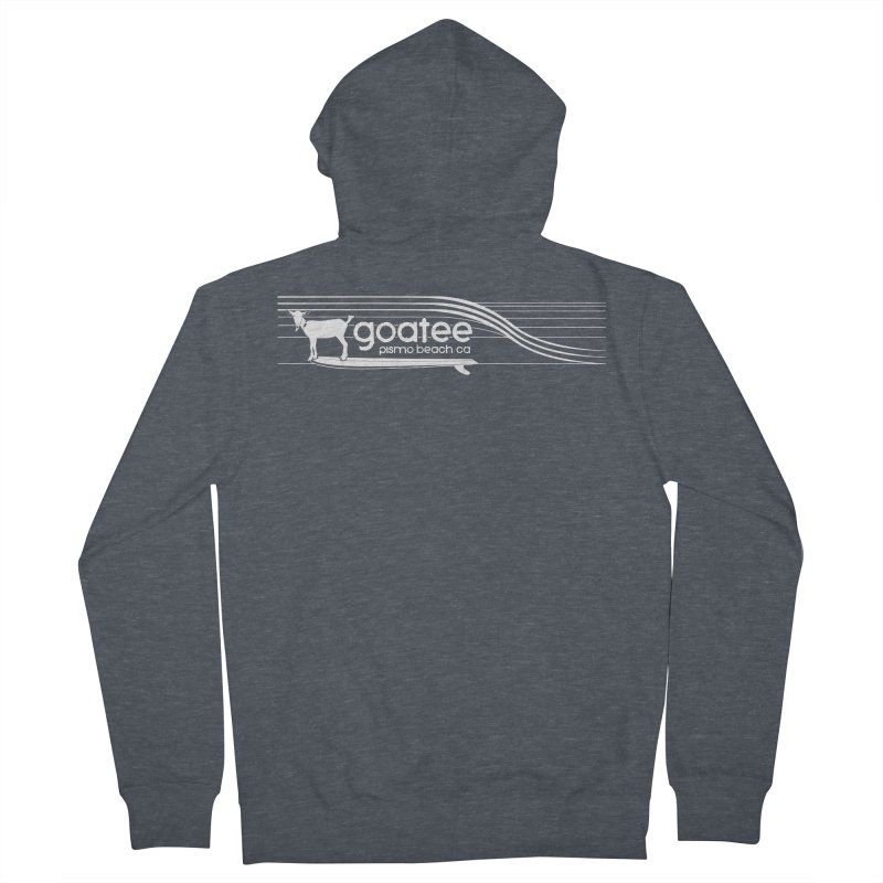 Goatee, The Original Surfing Goat Men's French Terry Zip-Up Hoody by ishCreatives's Artist Shop
