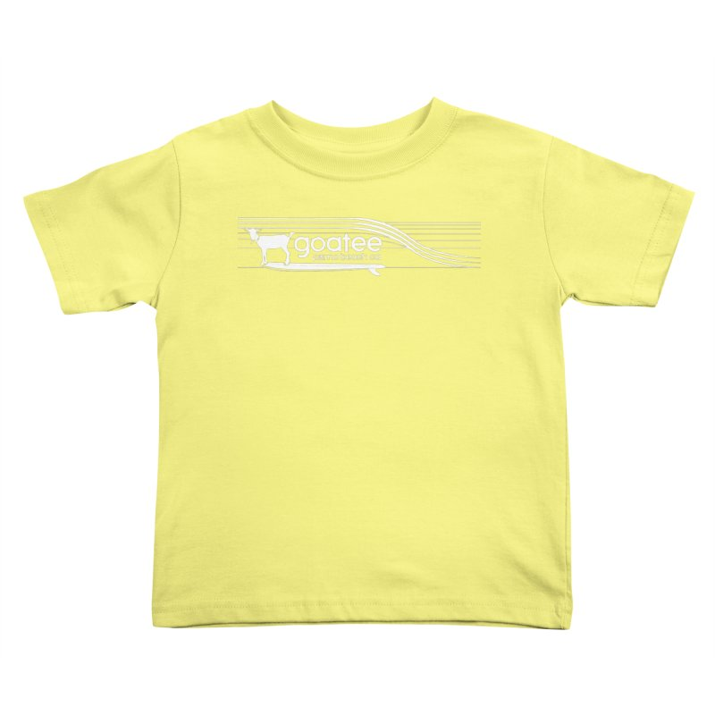 Goatee, The Original Surfing Goat Kids Toddler T-Shirt by ishCreatives's Artist Shop