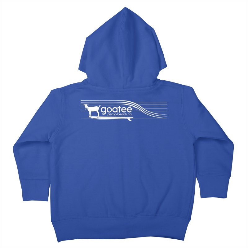 Goatee, The Original Surfing Goat Kids Toddler Zip-Up Hoody by ishCreatives's Artist Shop
