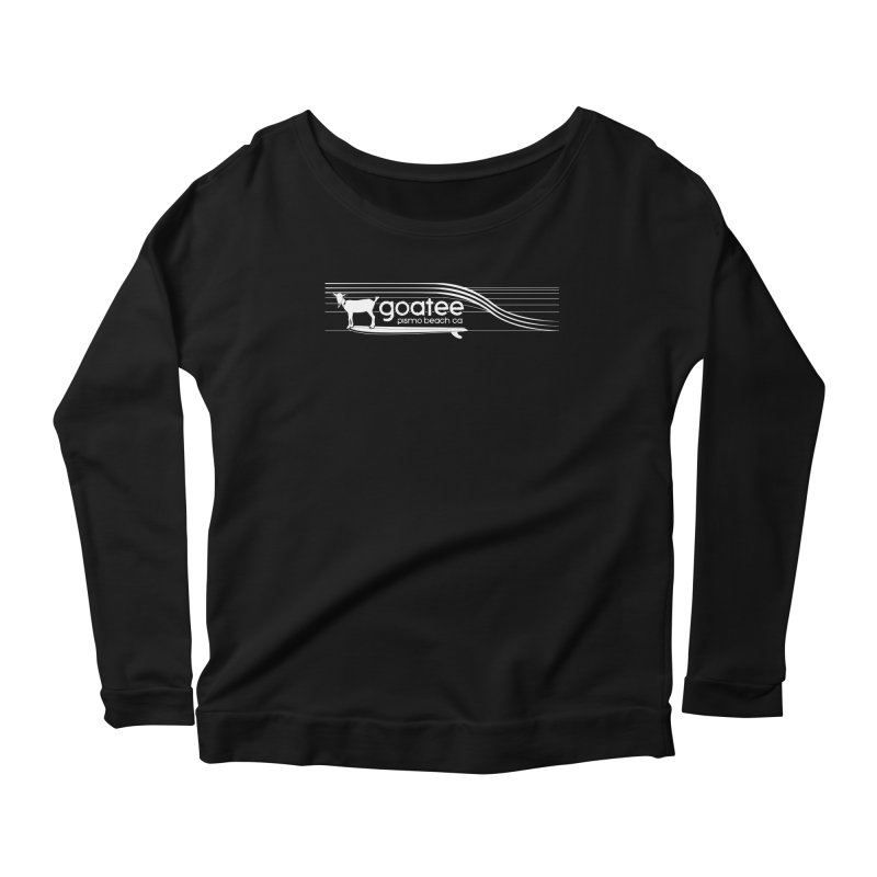 Goatee, The Original Surfing Goat Women's Scoop Neck Longsleeve T-Shirt by ishCreatives's Artist Shop