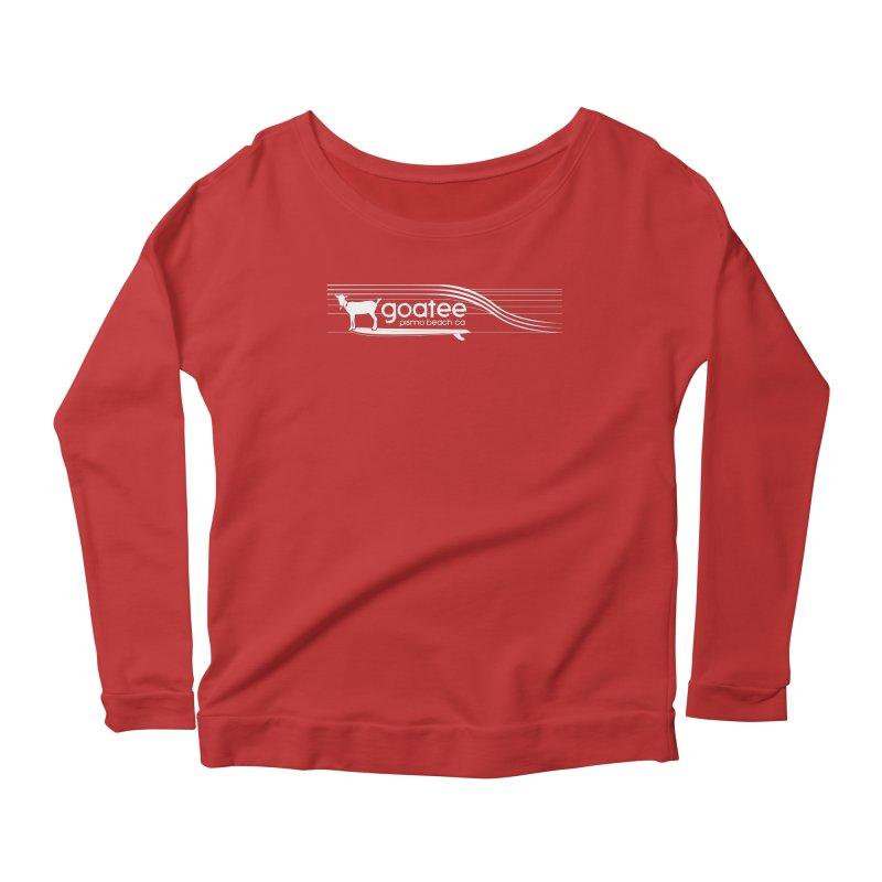 Goatee, The Original Surfing Goat Women's Scoop Neck Longsleeve T-Shirt by ishCreatives's Artist Shop