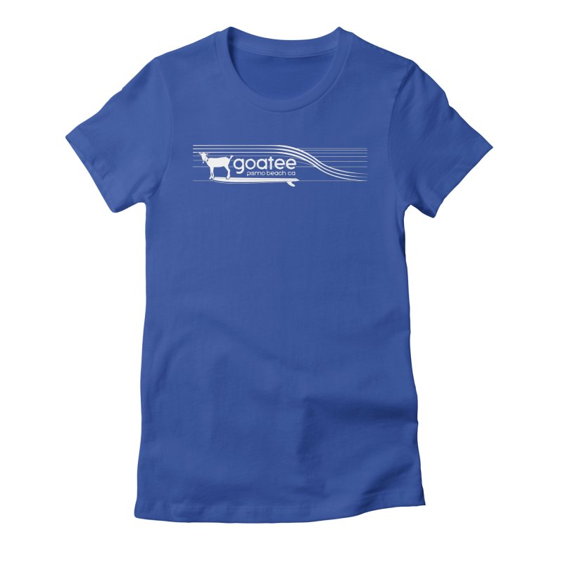 Goatee, The Original Surfing Goat Women's Fitted T-Shirt by ishCreatives's Artist Shop
