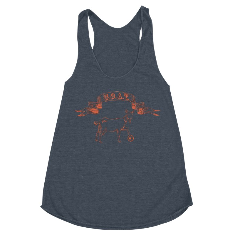 Greatest Of All Time Women's Racerback Triblend Tank by ishCreatives's Artist Shop
