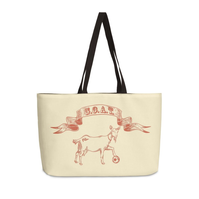 Greatest Of All Time Accessories Weekender Bag Bag by ishCreatives's Artist Shop