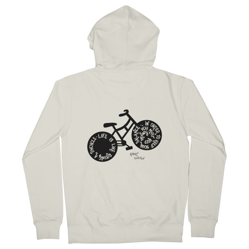 Life is moving  Men's French Terry Zip-Up Hoody by Ira Shepel Artist Shop