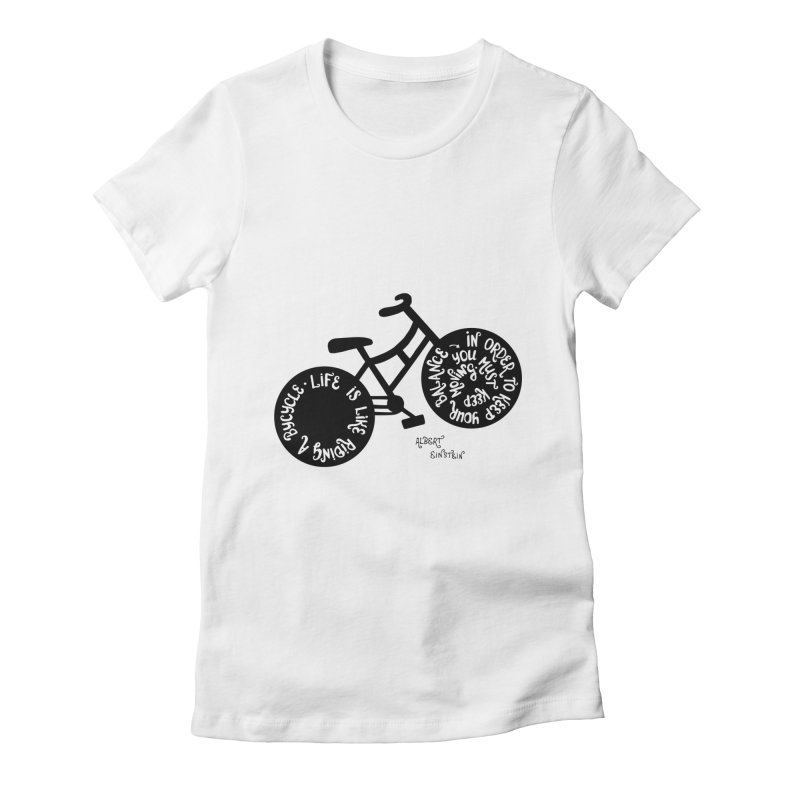 Life is moving  Women's Fitted T-Shirt by Ira Shepel Artist Shop
