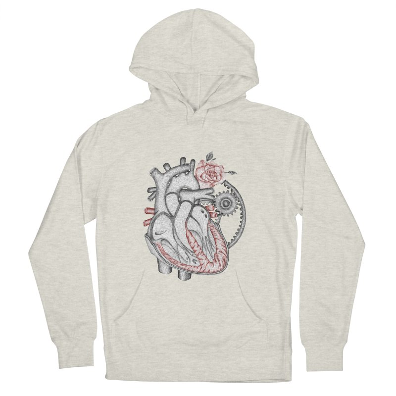Heartful Women's French Terry Pullover Hoody by Ira Shepel Artist Shop