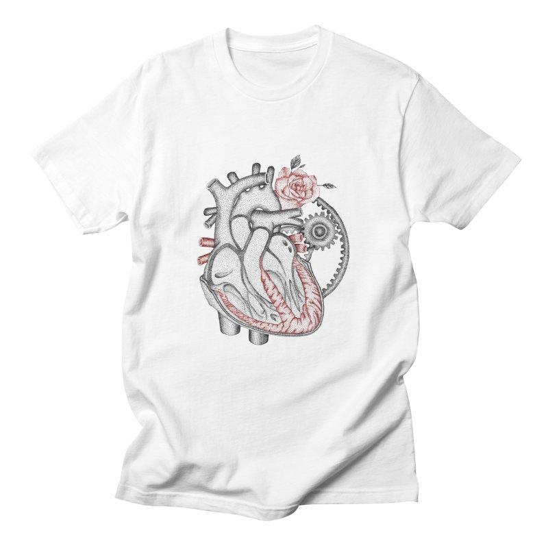 Heartful Men's T-Shirt by Ira Shepel Artist Shop