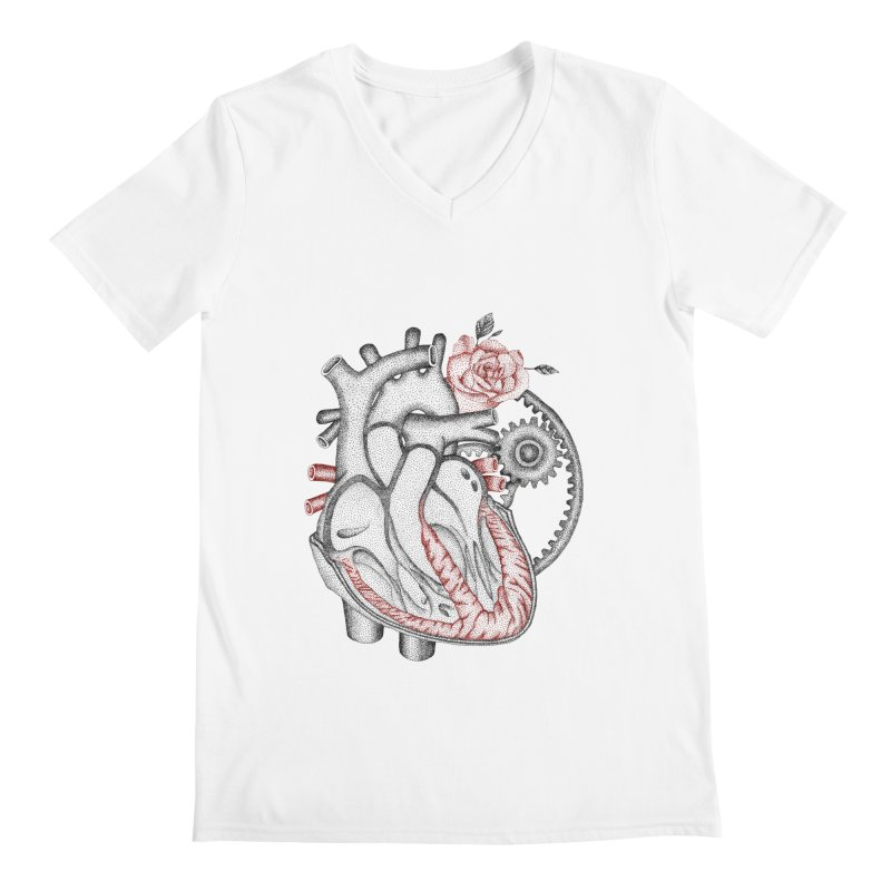 Heartful Men's Regular V-Neck by Ira Shepel Artist Shop