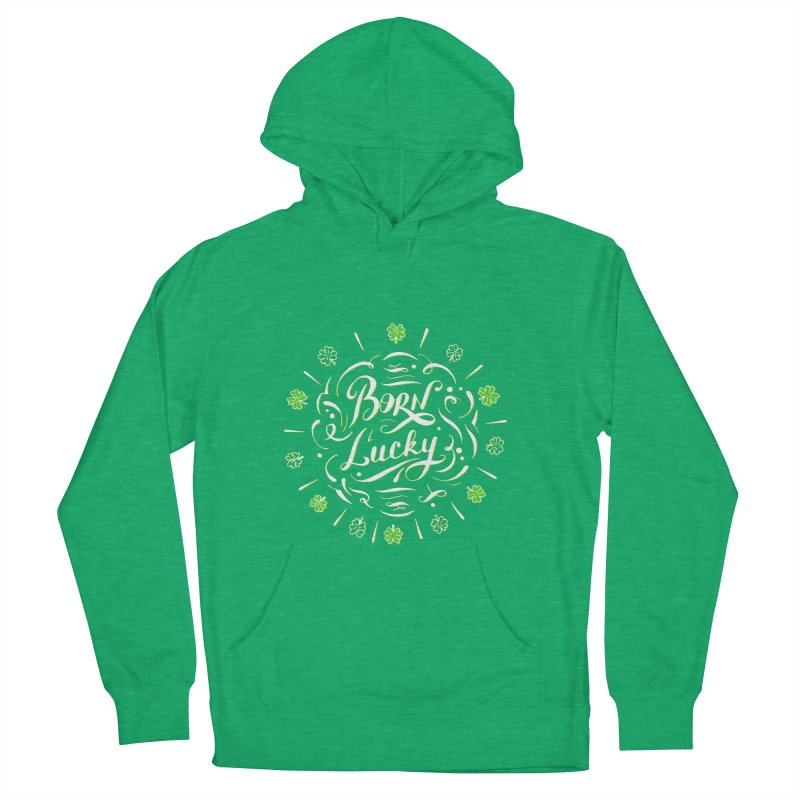 Born Lucky  Men's Pullover Hoody by Ira Shepel Artist Shop