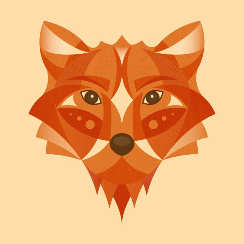 Geometrical Fox None  by Ira Shepel Artist Shop