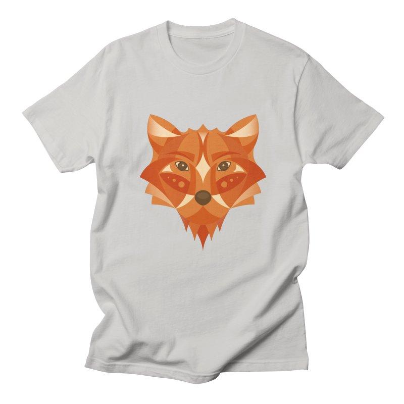 Geometrical Fox Men's T-Shirt by Ira Shepel Artist Shop