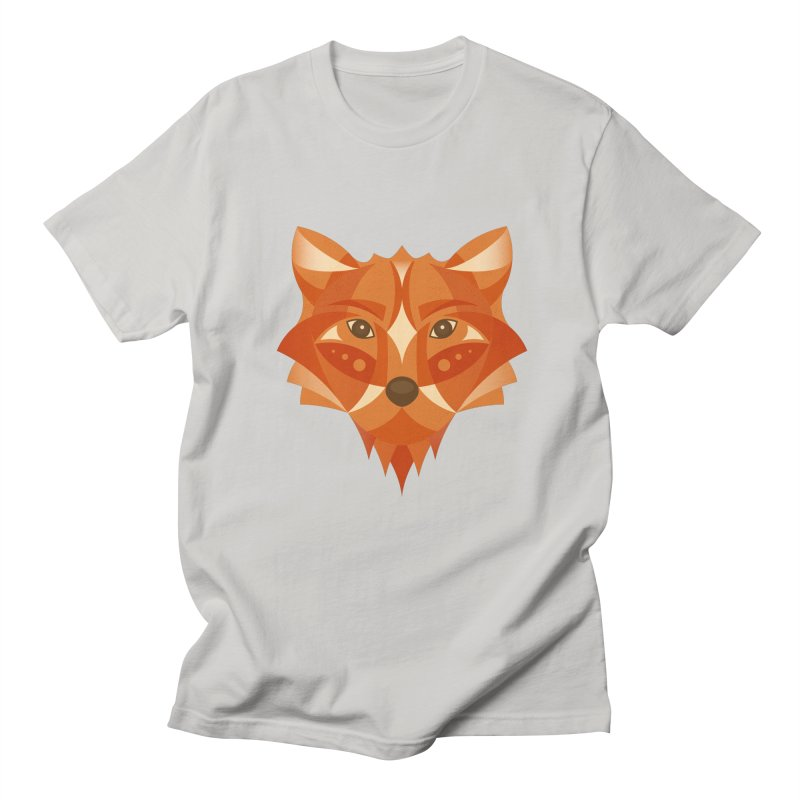 Geometrical Fox Men's T-Shirt by Ira Shepel Artist Shop
