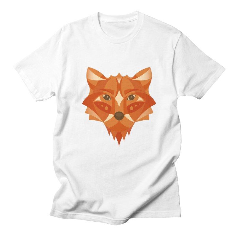 Geometrical Fox Men's Regular T-Shirt by Ira Shepel Artist Shop