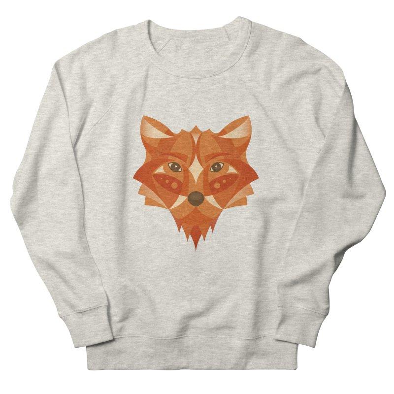 Geometrical Fox Women's French Terry Sweatshirt by Ira Shepel Artist Shop