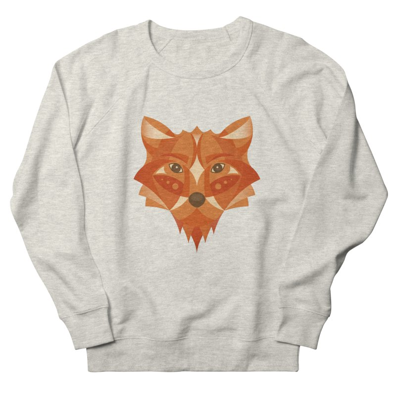 Geometrical Fox Men's French Terry Sweatshirt by Ira Shepel Artist Shop