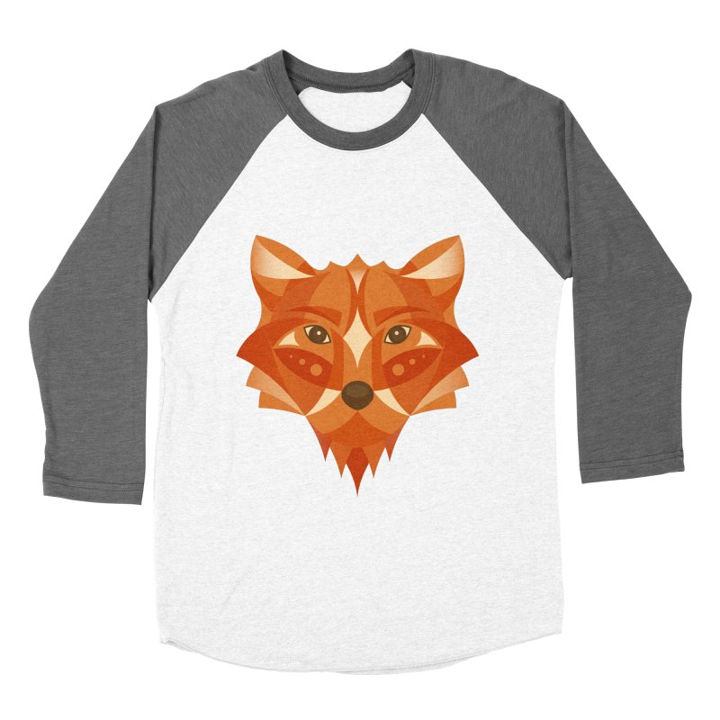 Geometrical Fox Men's Baseball Triblend T-Shirt by Ira Shepel Artist Shop