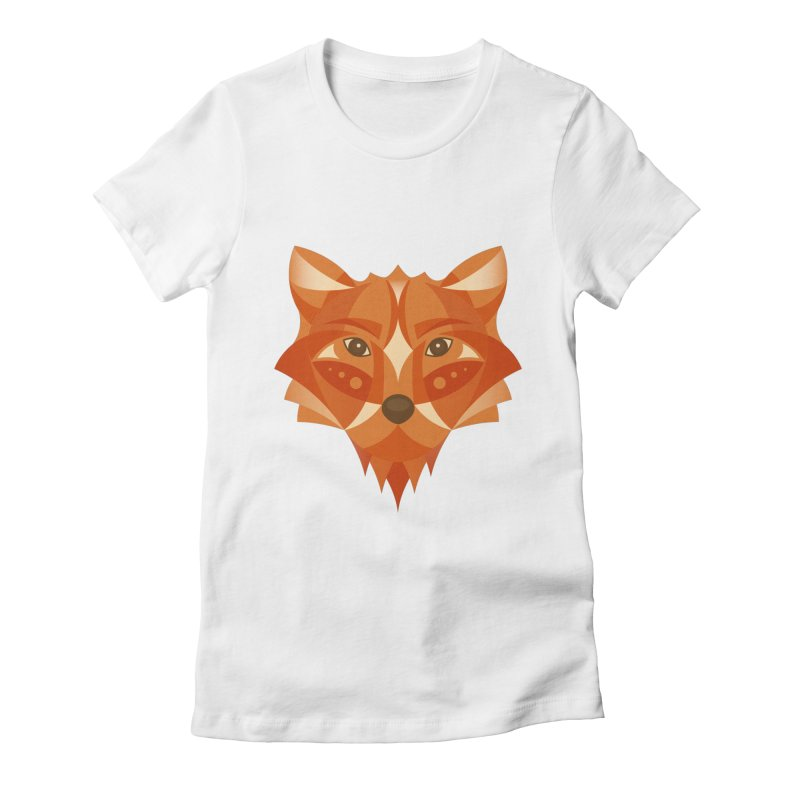 Geometrical Fox Women's  by Ira Shepel Artist Shop