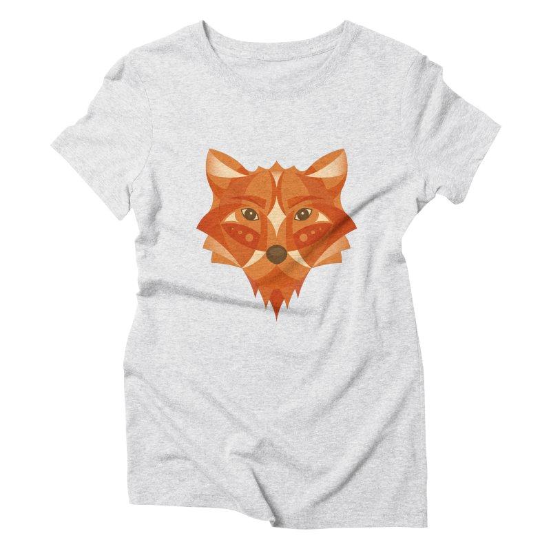 Geometrical Fox Women's Triblend T-Shirt by Ira Shepel Artist Shop